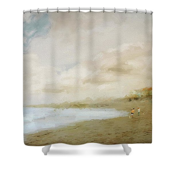 Surfcasters Shower Curtain