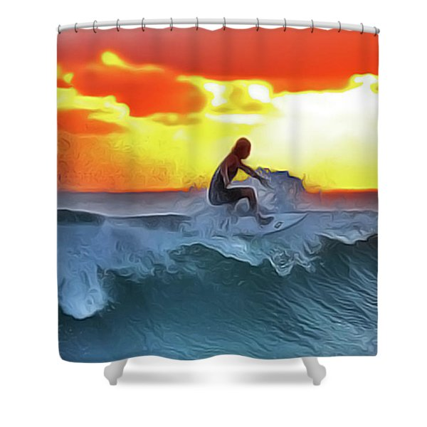 Surferking Shower Curtain