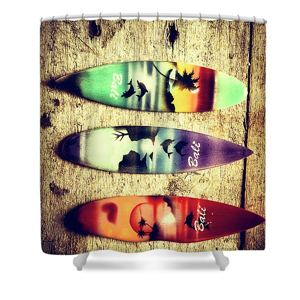 Surfers Parade Shower Curtain