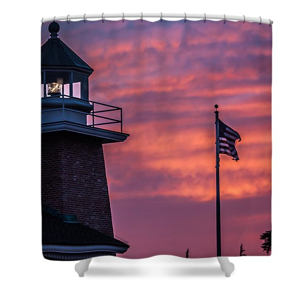 Surfing Museum Full Color  Shower Curtain