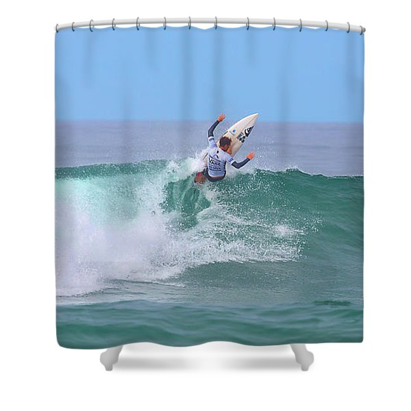 Surfing Panorama Shower Curtain
