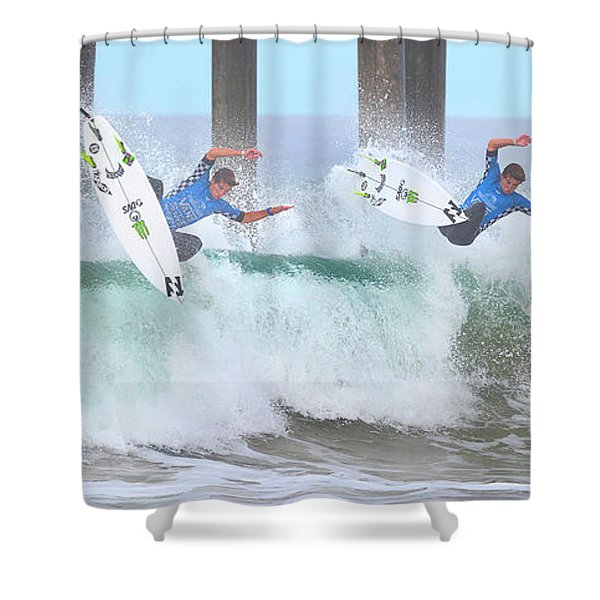Surfing Sequence Shower Curtain