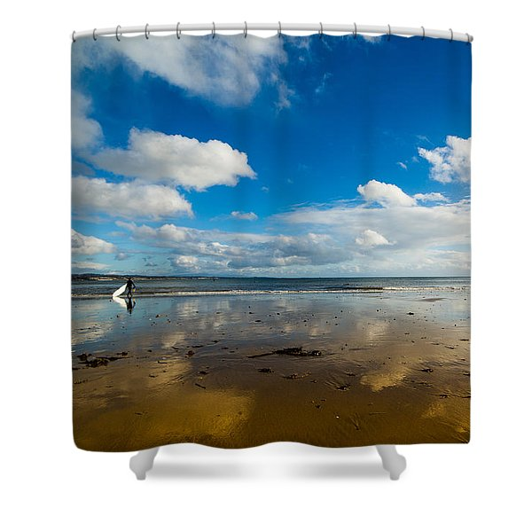Surfing The Sky Shower Curtain