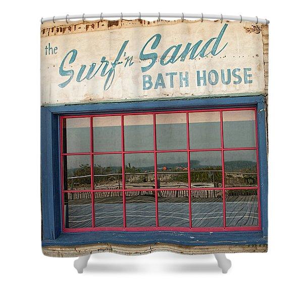 Surf'n Sand Bath House  Shower Curtain