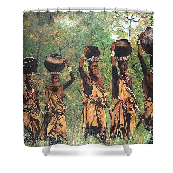 Blaa Kattproduksjoner        Surma Women Of Africa Shower Curtain