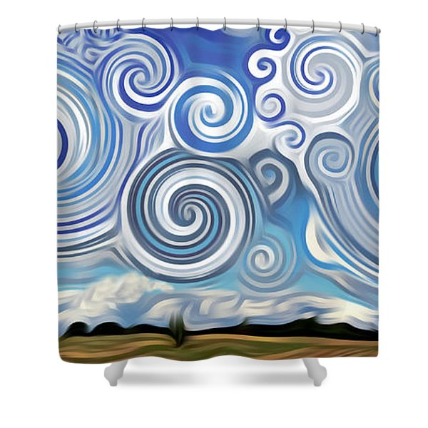 Surreal Cloud Blue Shower Curtain