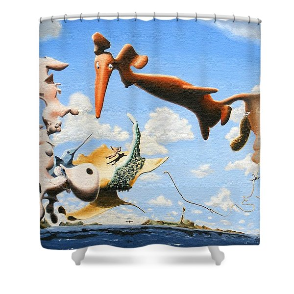 Surreal Friends Shower Curtain