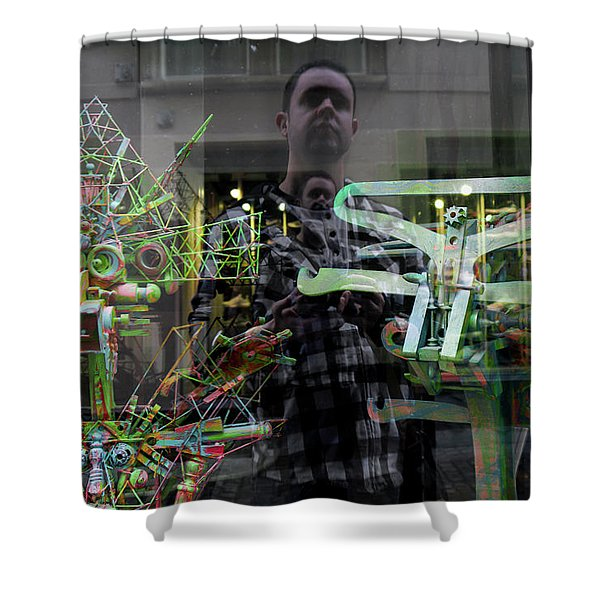 Surreal Introspection Shower Curtain