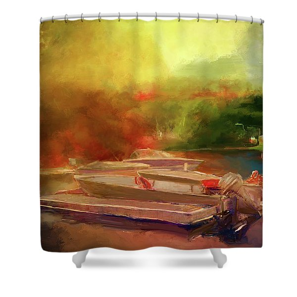 Surreal Sunset In Spanish Shower Curtain