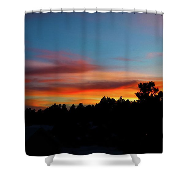 Shower Curtain featuring the photograph Surreal Sunset by Jason Coward