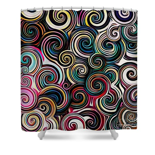 Surreal Swirl  Shower Curtain