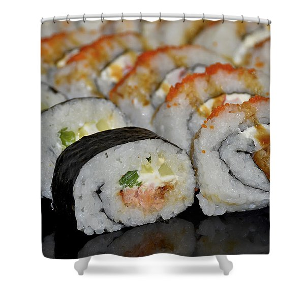 Sushi Rolls From Home Shower Curtain