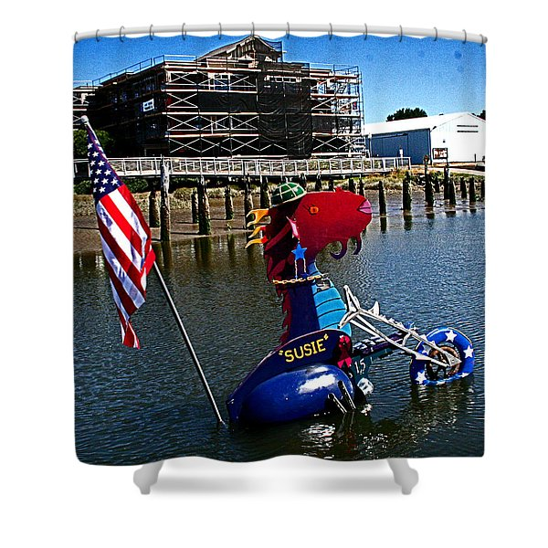 Susie Is A Lady -  Harbor Guardian Shower Curtain