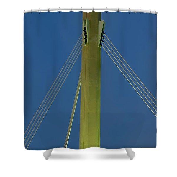 Suspension Pole Shower Curtain