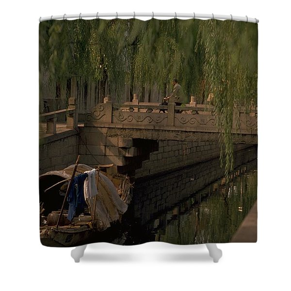 Suzhou Canals Shower Curtain