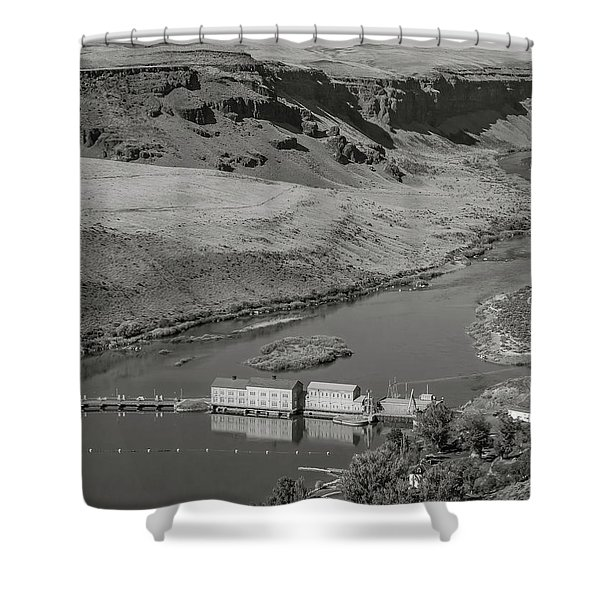 Swan Falls Dam Shower Curtain
