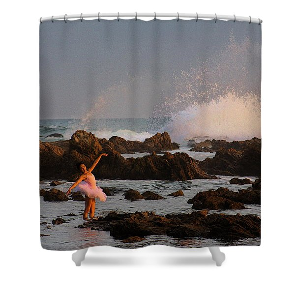 Swan In Ocean Shower Curtain