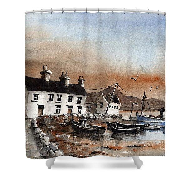 Sweeney,s Pier, Coraun, Mayo.. X116 Shower Curtain