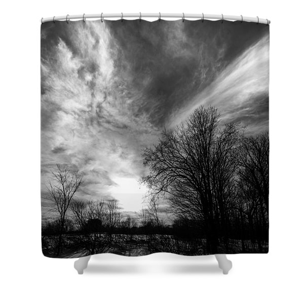 Sweeping Sky Shower Curtain