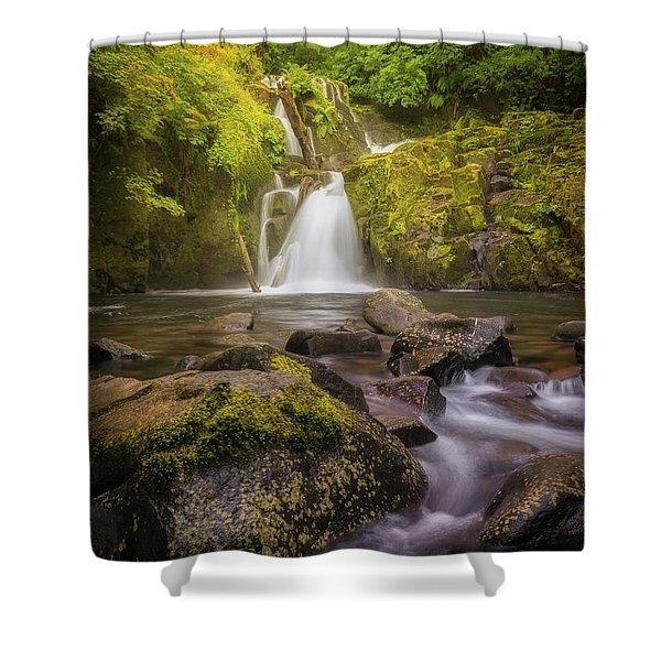 Sweet Creek Falls Shower Curtain