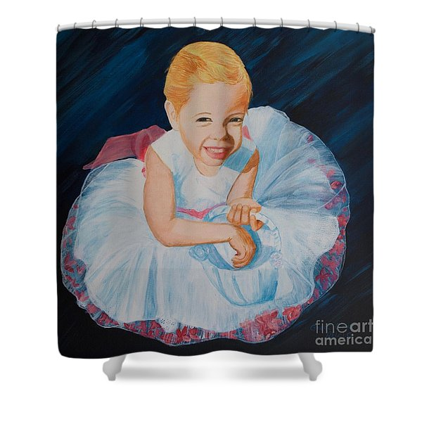 Sweet Flower Girl Shower Curtain
