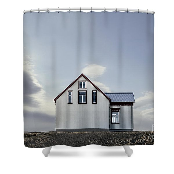 Sweet House Under A White Cloud Shower Curtain