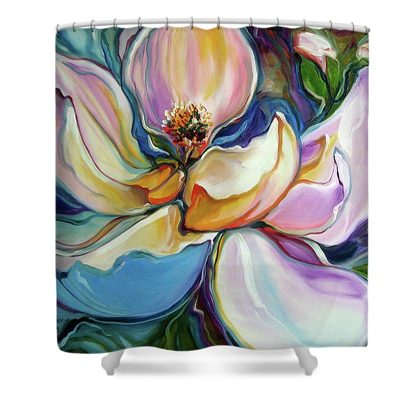 Sweet Magnoli Floral Abstract Shower Curtain