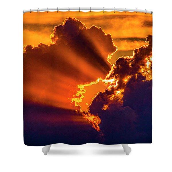 Sweet Nebraska Crepuscular Rays 010 Shower Curtain