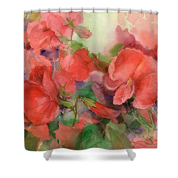 Sweet Peas Shower Curtain