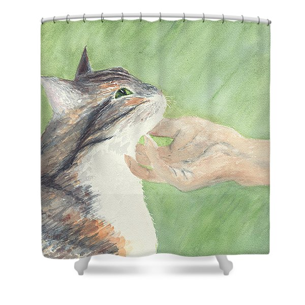 Shower Curtain featuring the painting Sweet Spot by Kathryn Riley Parker