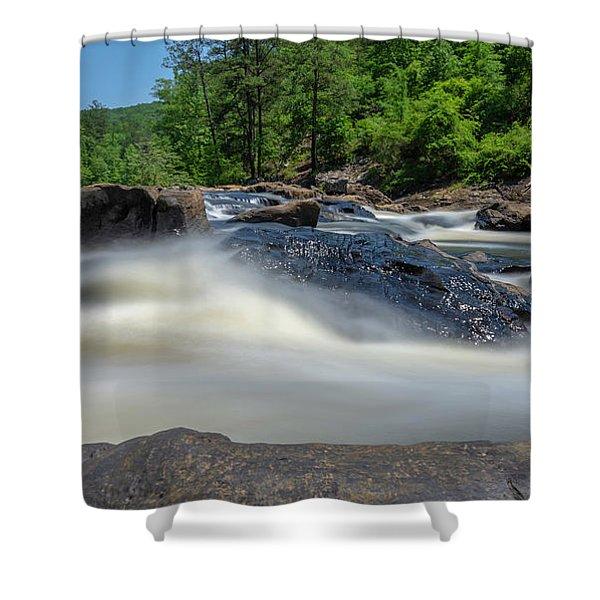 Sweetwater Creek Long Exposure Shower Curtain