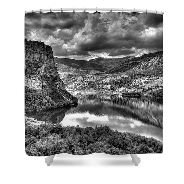 Sweetwater Lake 2 Bw Shower Curtain