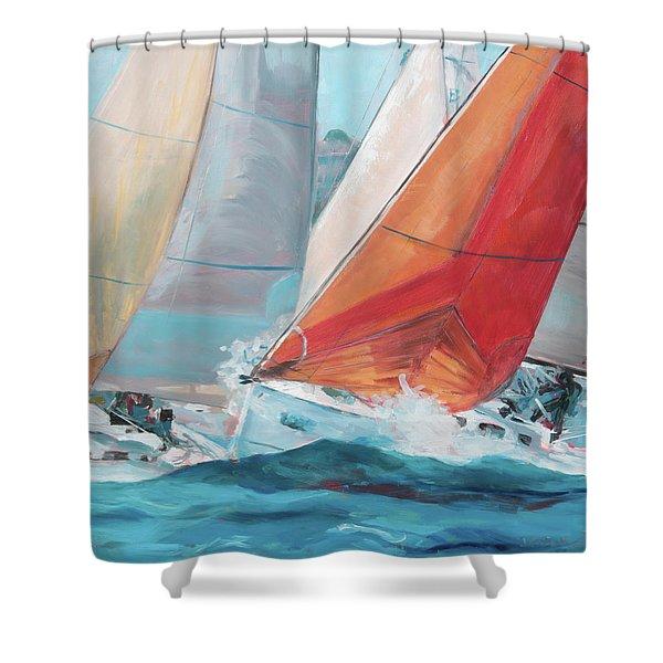 Swells Shower Curtain