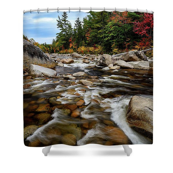 Swift River Autumn Nh Shower Curtain