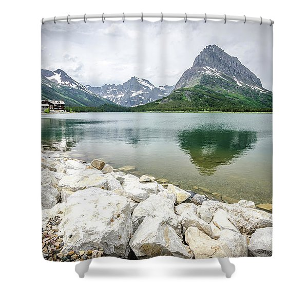 Swiftcurrent Lake Shower Curtain