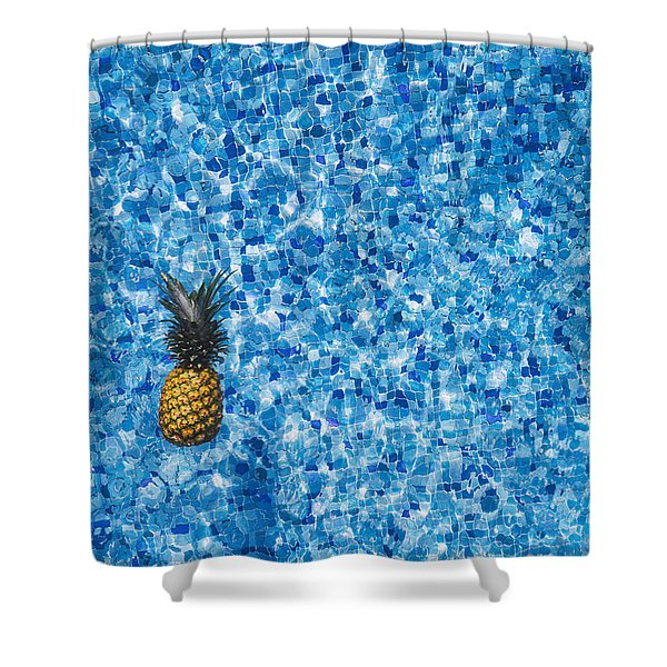 Swimming Pool Days Shower Curtain