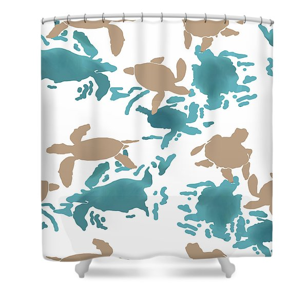 Swimming Turtles Shower Curtain