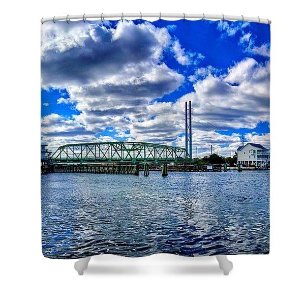 Swing Bridge Heaven Shower Curtain