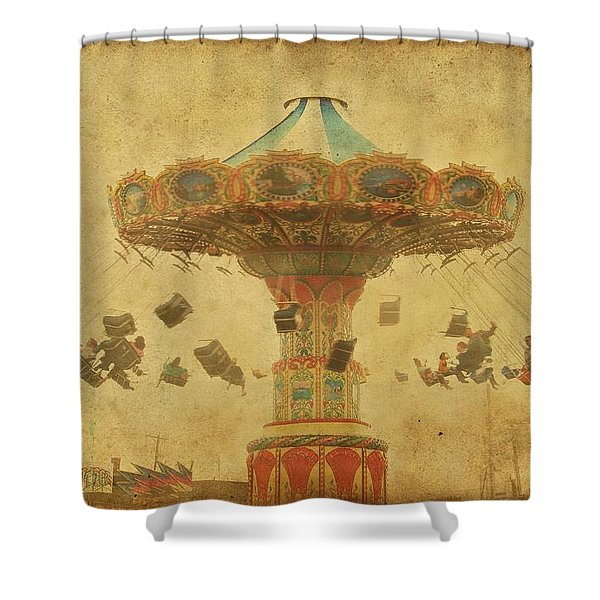 Swing Chair Ride At Jenkinsons Boardwalk - Jersey Shore Shower Curtain
