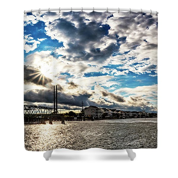 Swing Bridge Drama Shower Curtain