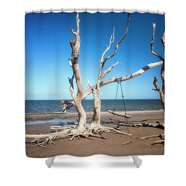 Swingin' At Low Tide Shower Curtain