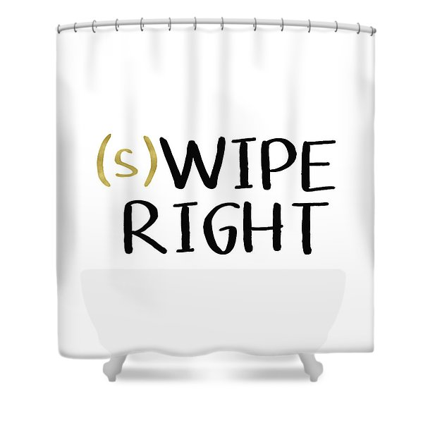 Swipe Right- Art By Linda Woods Shower Curtain