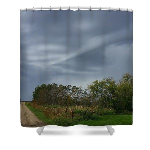 Swirel Shower Curtain
