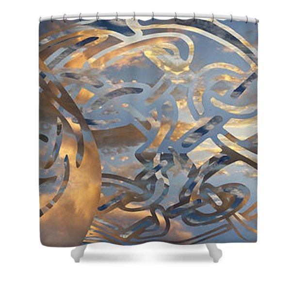 Swirling Celtic Sunset Shower Curtain