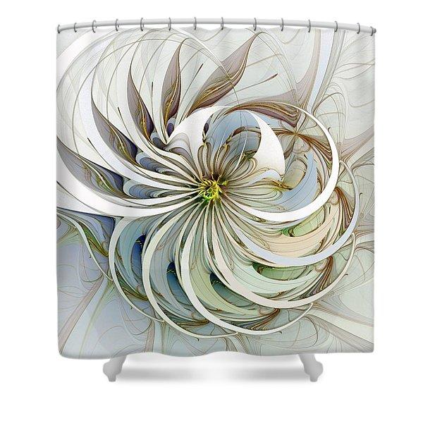 Swirling Petals Shower Curtain
