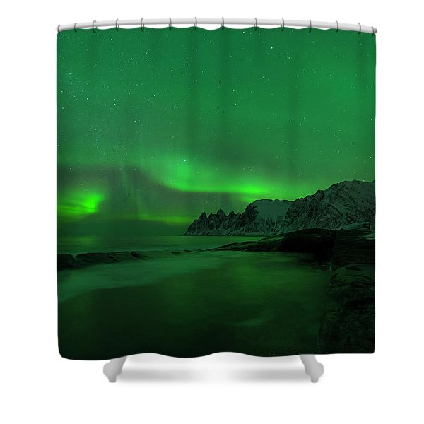 Swirling Skies And Seas Shower Curtain