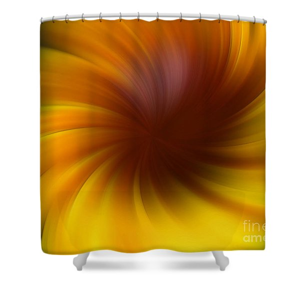 Swirling Yellow And Brown Shower Curtain