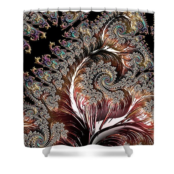 Swirls And Roots Shower Curtain