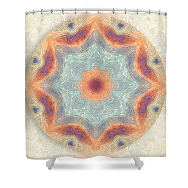 Swirls Of Love Mandala Shower Curtain