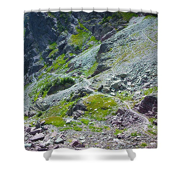 Switchbacks Below Comeau Pass Shower Curtain